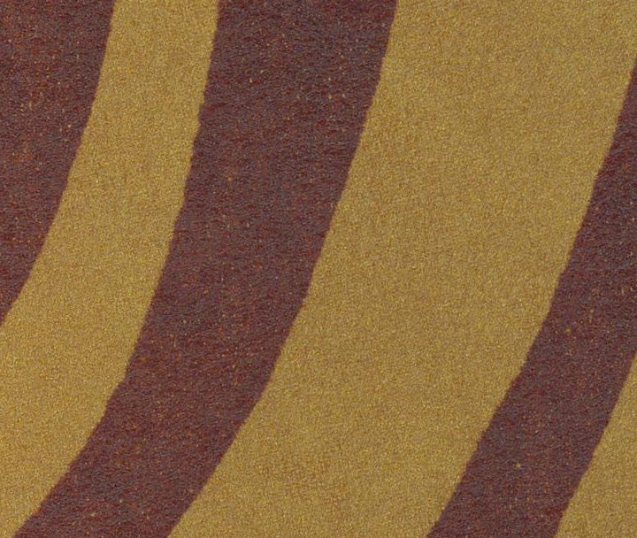 METALLIC ZEBRA BROWN ON GOLD 1198 SEMI-ANILINE