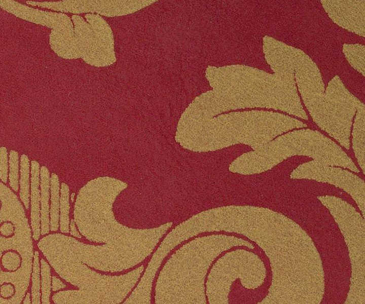 NUBUCK DAMASK GOLD ON RED 1014
