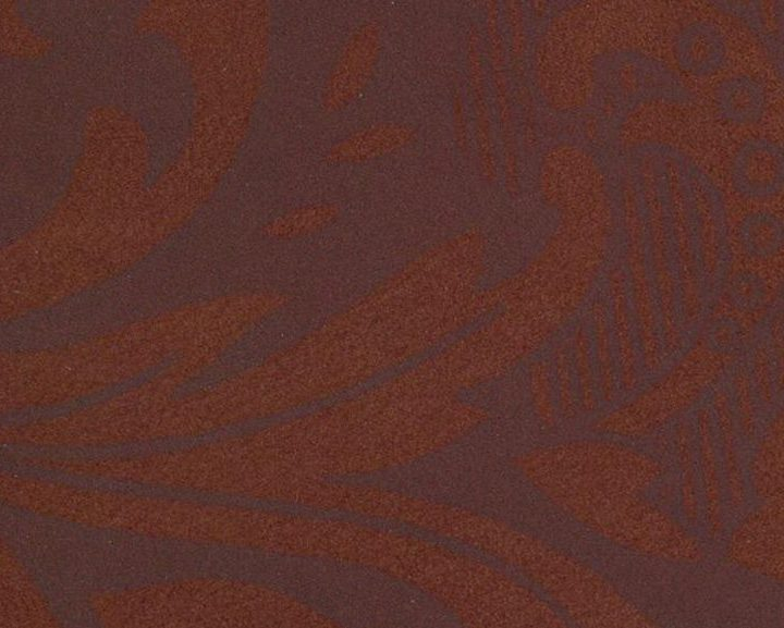 NUBUCK REVERSED DAMASK BROWN ON TAN 1054