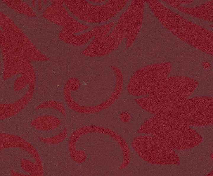 NUBUCK REVERSED DAMASK RED ON RED 1058